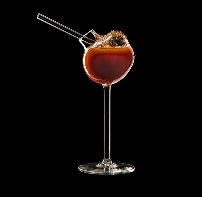 bubble cocktail glass